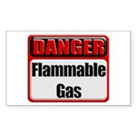 Danger: Flammable Gas Rectangular Sticker