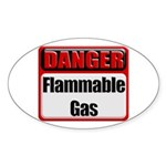 Danger: Flammable Gas Oval Sticker