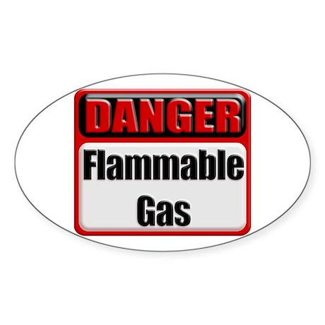Danger: Flammable Gas Oval Sticker