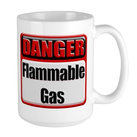 Danger: Flammable Gas Large Coffee Cup