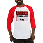 Danger: Flammable Gas Baseball Jersey