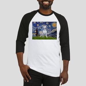 Starry Night/Bull Terrier Baseball Jersey