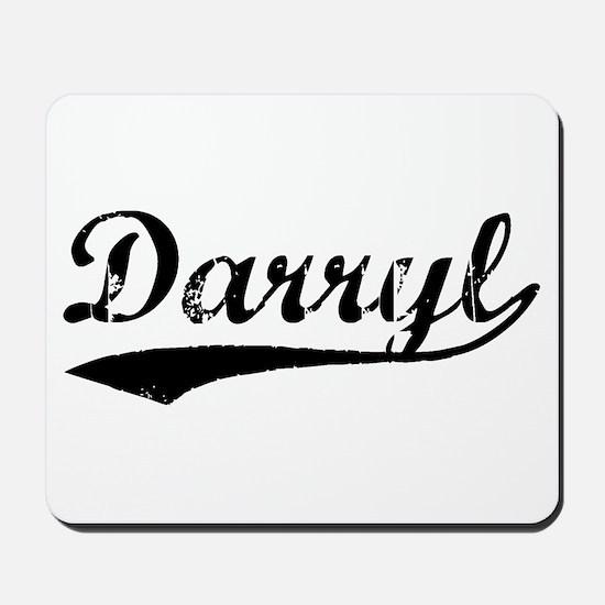 Vintage Darryl (Black) Mousepad