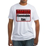 Danger: Flammable Gas Fitted T-Shirt