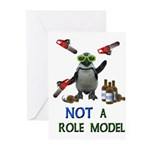 Danger Penguin Greeting Cards (Pk of 10)
