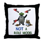 Danger Penguin Throw Pillow