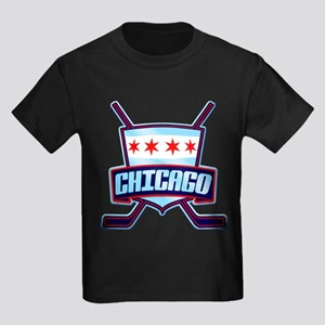 Chicago Hockey Flag Logo T-Shirt