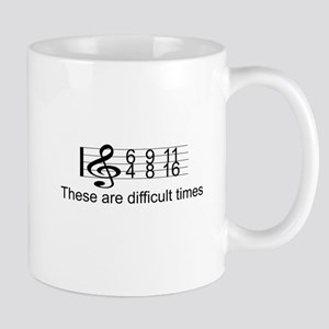 MUSIC: DIFFICULT TIMES Mugs