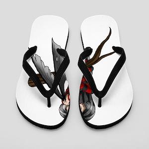 black stripe fairysmall Flip Flops