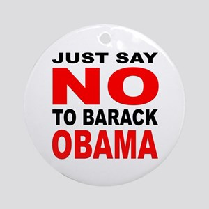 Anti-Barack Obama Ornament (Round)