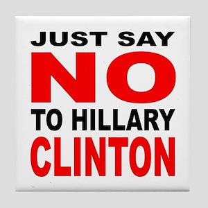 Anti-Hillary Clinton Tile Coaster