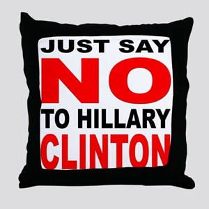 Anti-Hillary Clinton Throw Pillow