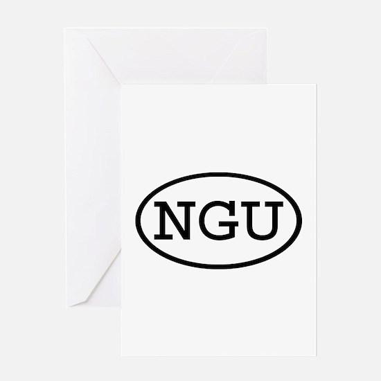 NGU Oval Greeting Card