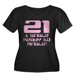 21st Birthday Women's Plus Size Scoop Neck Dark T-
