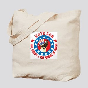 Vote for Toy Fox Terrier Tote Bag
