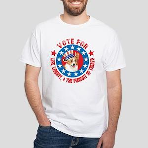 Vote for Welsh Corgi White T-Shirt