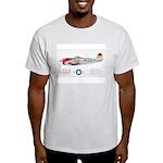 Republic Thunderbolt Aircraft Ash Grey T-Shirt