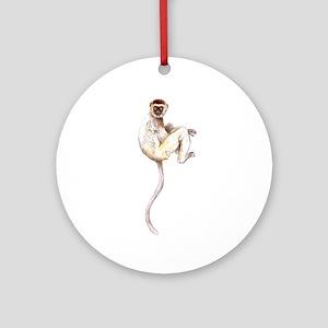 Verreaux's Sifaka Lemur Ornament (Round)