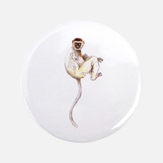 """Verreaux's Sifaka Lemur 3.5"""" Button"""