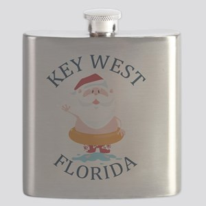 Summer key west- florida Flask