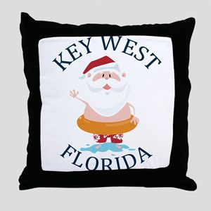 Summer key west- florida Throw Pillow