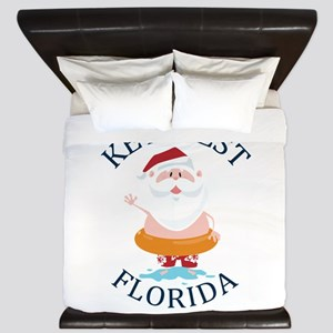 Summer key west- florida King Duvet