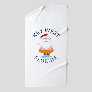 Summer key west- florida Beach Towel