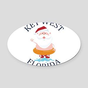 Summer key west- florida Oval Car Magnet