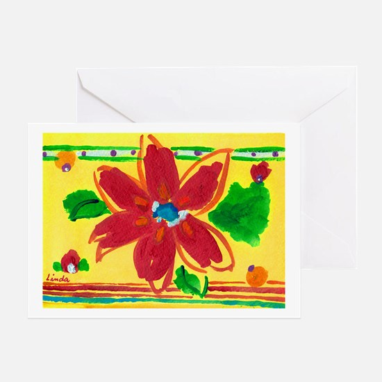 Happy birthday linda greeting cards cafepress tropical flower greeting card m4hsunfo