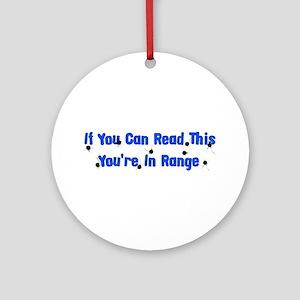 In Range Ornament (Round)