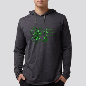 St Patrick's Day Lover Not Fight Mens Hooded Shirt