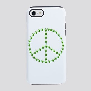 Green Beer Peace Sign iPhone 8/7 Tough Case