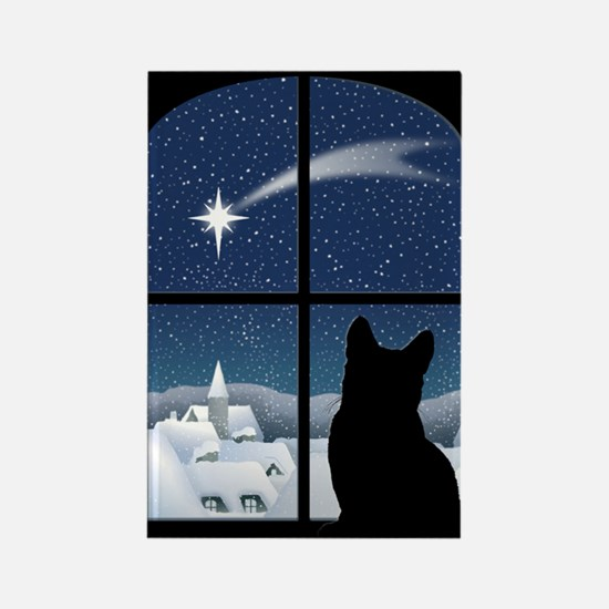 Silent Night Christmas Magnet