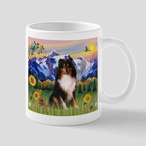 Mt. Country & Tri Shetland Sheepdog Mug