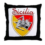 Sicilian Trisceli Throw Pillow