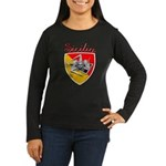 Sicilian Trisceli Women's Long Sleeve Dark T-Shirt