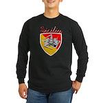 Sicilian Trisceli Long Sleeve Dark T-Shirt
