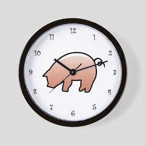 Pink Piggy Wall Clock