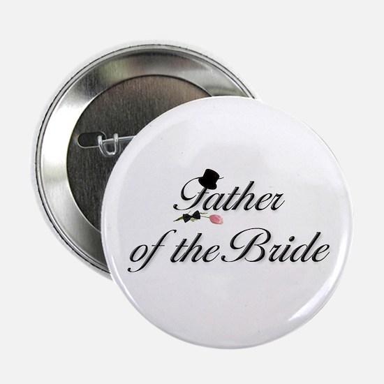 Black Script Father of the Bride Button