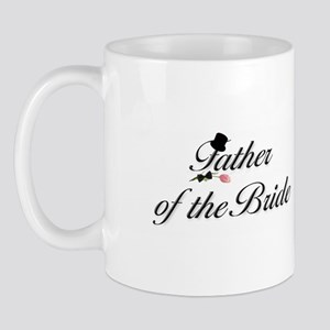 Black Script Father of the Bride Mug