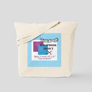 Scrapbook Addict - 12 x 12 St Tote Bag
