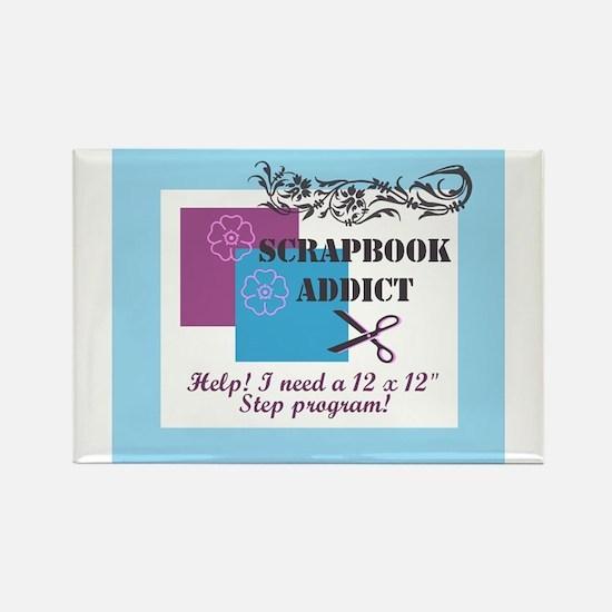 Scrapbook Addict - 12 x 12 St Rectangle Magnet