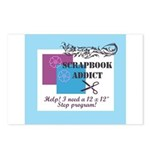 Scrapbook Addict - 12 x 12 St Postcards (Package o