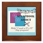 Scrapbook Addict - 12 x 12 St Framed Tile
