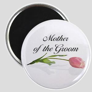 Pink Tulip Mother of Groom Magnet