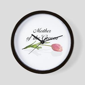 Pink Tulip Mother of Groom Wall Clock