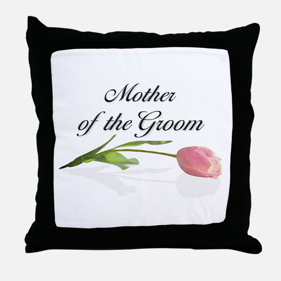 Pink Tulip Mother of Groom Throw Pillow