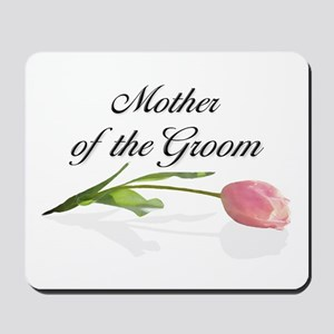 Pink Tulip Mother of Groom Mousepad