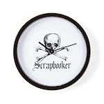 Scrapbooker - Knitter - Craft Wall Clock