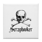 Scrapbooker - Knitter - Craft Tile Coaster